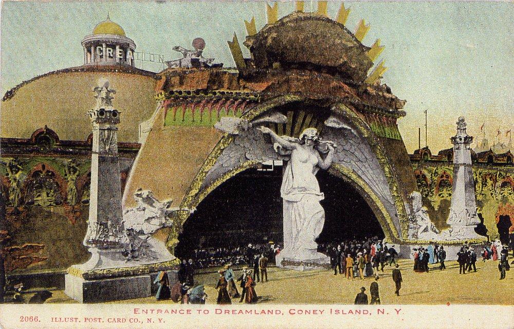 Dreamland Amusement Park, Coney Island (Postcard, c. 1900)