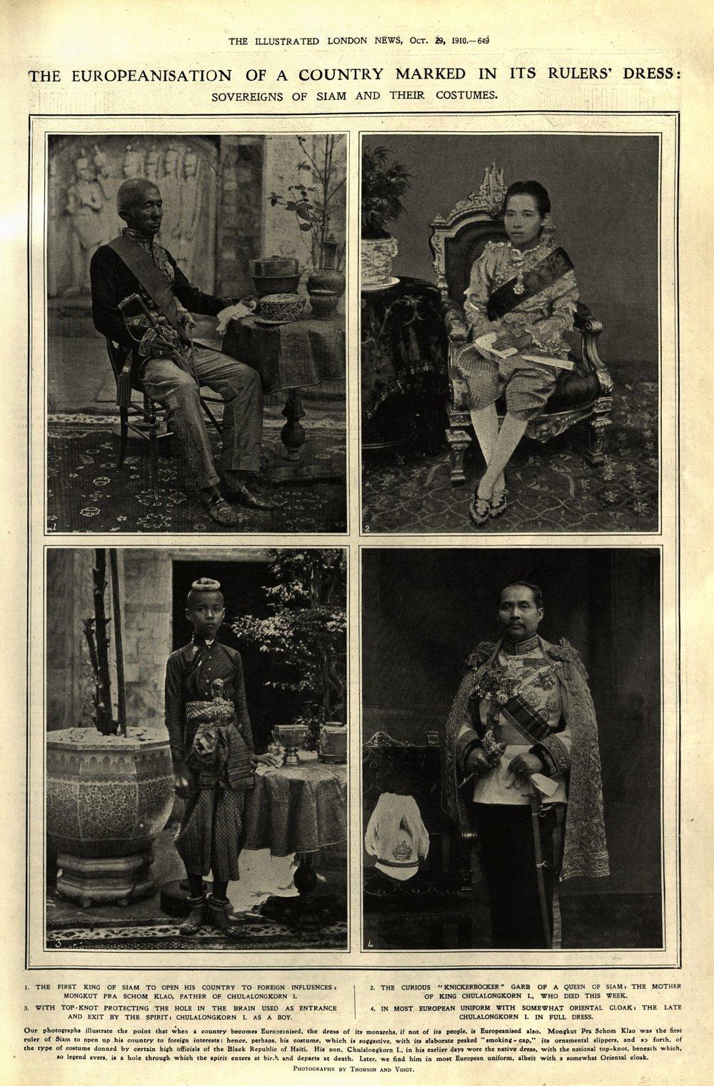 Obituary of King Chulalongkorn of Siam