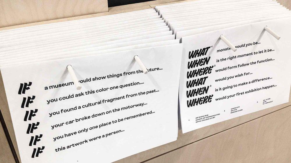 Work in Progress Show 2018, Corporate Identity, School of Communication
