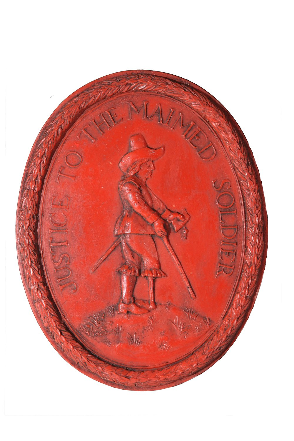 Reproduction of the seal for the parliamentary committee for sick and maimed soldiers. Extant original is in the Wiltshire and Swindon Record Office