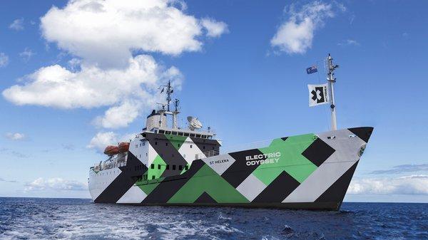 Extreme E's floating operations hub the St Helena