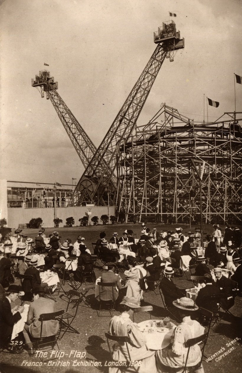 Flip Flap and Spiral Railway, Franco British Exhibition, London 1908 (Postcard)