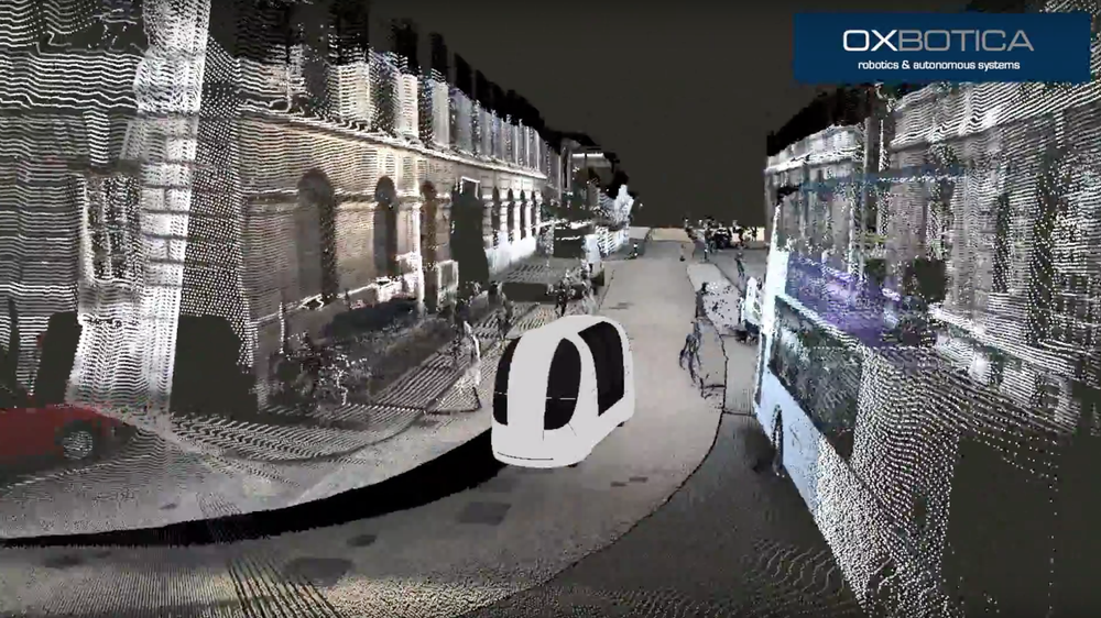 3D point cloud showing the GATEway pod on University of Greenwich campus.