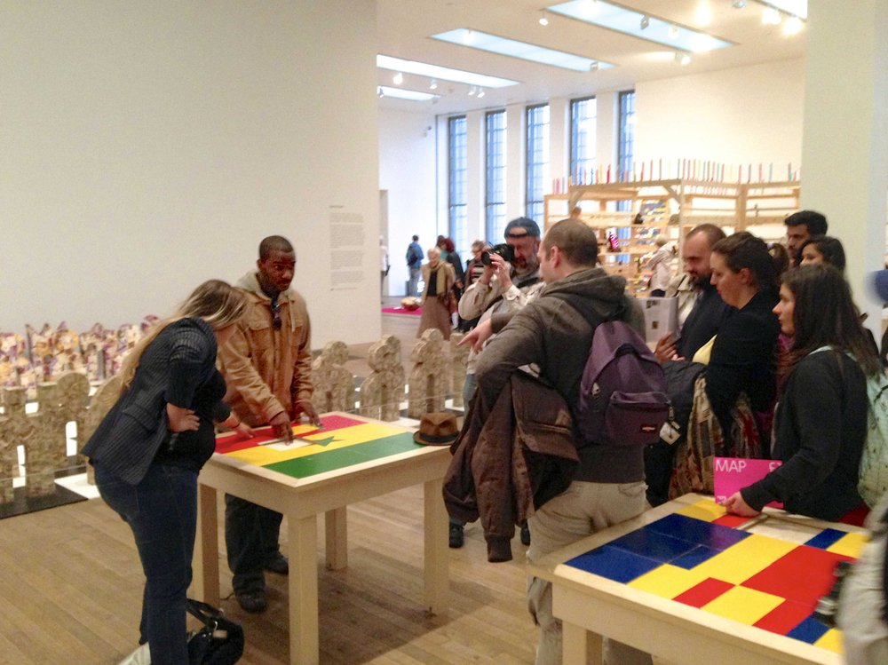 """The Game Room in Meschac Gaba's """"Museum of Contemporary African Art 1997-2002"""", Tate Modern, London (2013)"""