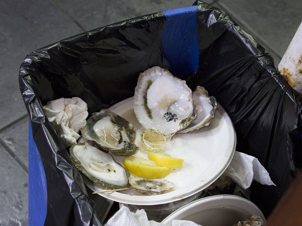 Research in Seafood Restaurants: After consumed in the city, Oysters shells are mostly thrown away to the landfill