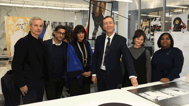 Launch of GenerationRCA with (l-r) Ascan Mergenthaler (Hezog & de Meuron); Asif Kapadia; Baroness Gail Rebuck DBE; Dr Paul Thompson; Kate Strudwick and Dr Rathna Ramanathan