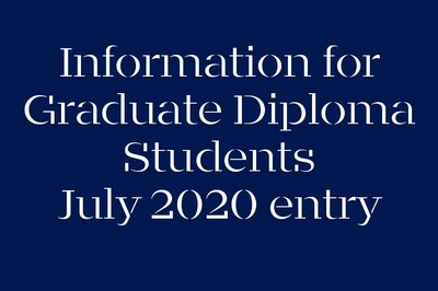 Information for Graduate Diploma Art & Design students: July 2020 entry