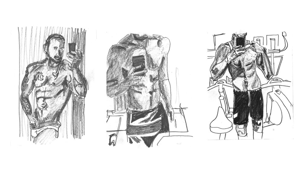 Selection from Grindr Drawings