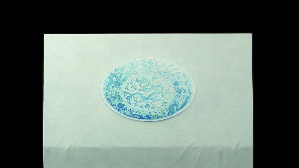 Everyday: blue and white porcelain dish