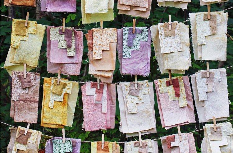 Lliw Lleol (Local Colour), March (upper row), April (lower row),  Hannah Elizabeth Jones