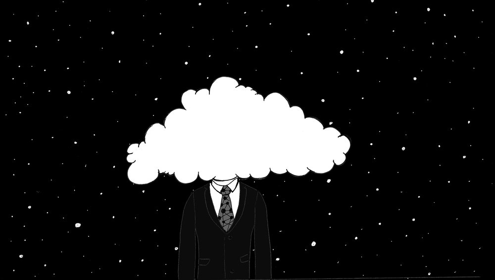 Head in the Cloud. Connected yet distant. Out of Touch.