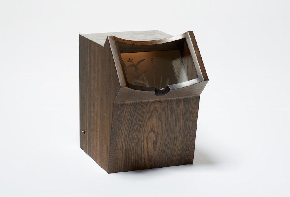 Hedgerow, Oak box made by Geoffrey Hagger