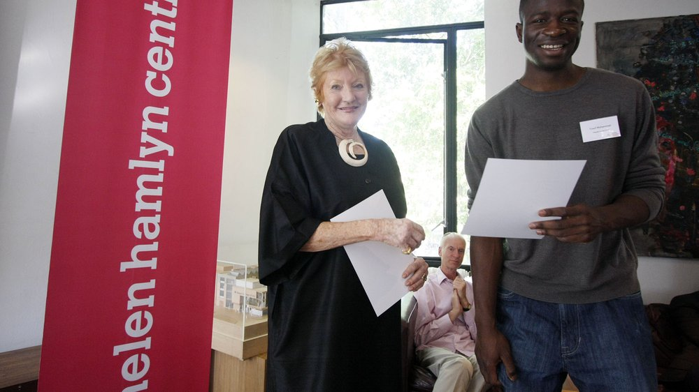 Helen Hamlyn with Award winner