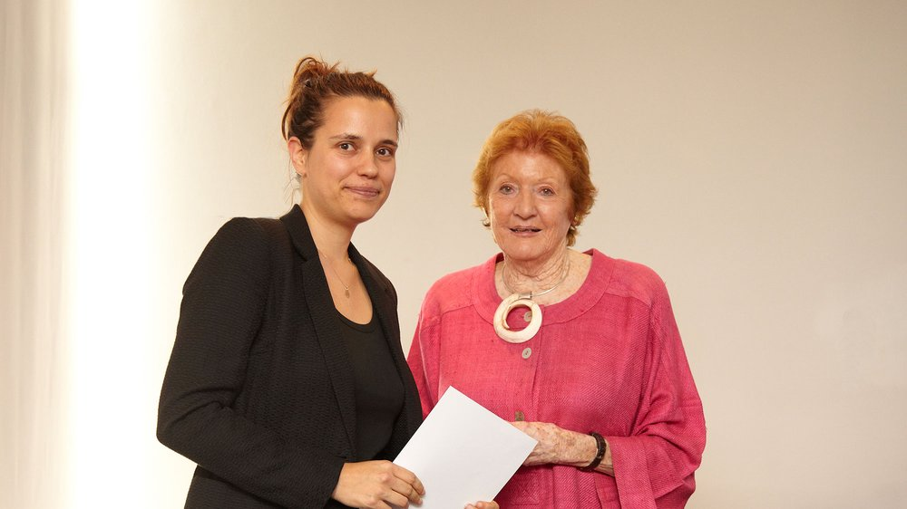 Helen Hamlyn Award presented to Lise Pape by Helen Hamlyn