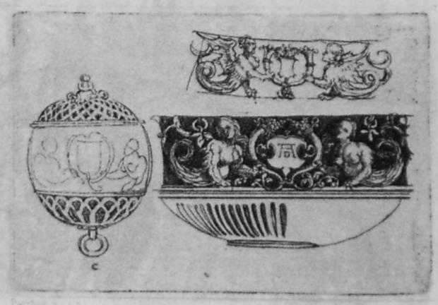 Design for a Pomander Case after Albrecht Dürer
