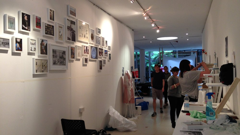 Installation of History of Design Show