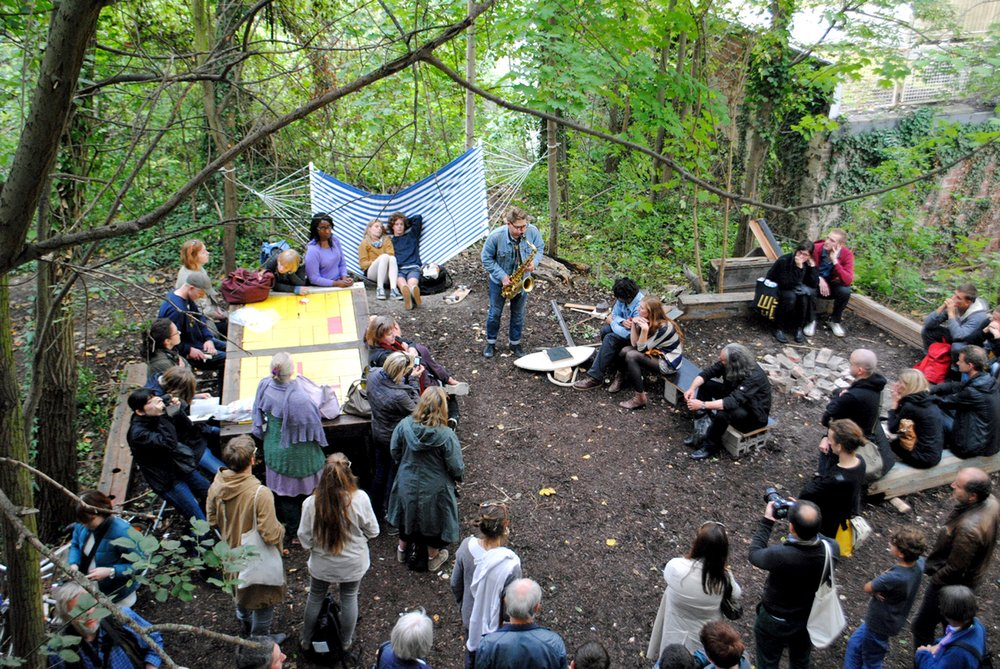 "Listening to Otis Sandsjö in Theaster Gates's ""12 Ballads for Huguenot House"", dOCUMENTA (13), Kassel (2012)"