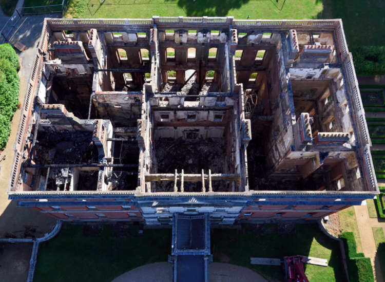 Aerial view of Clandon Park