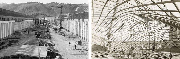 Left: Climat de France, Fernand Poullion. RIght: German Pavilion Montreal '67, Frei Otto