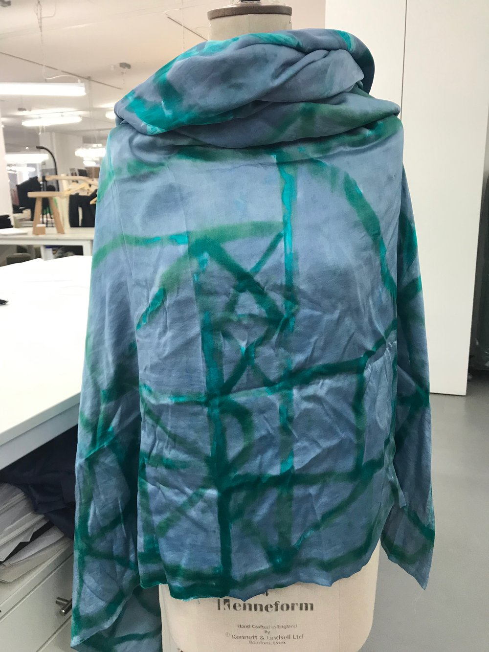 Silk shirt drapery