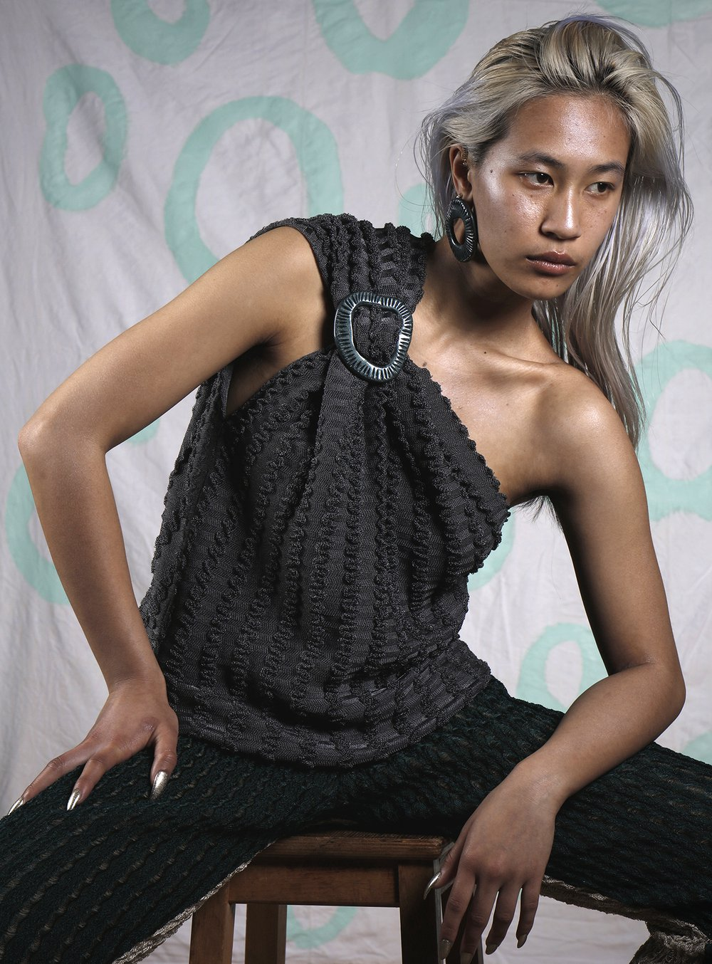Knitted top and trousers