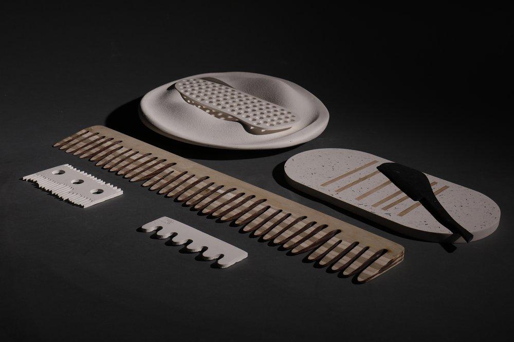 Halibut comb and Mackerel Plate