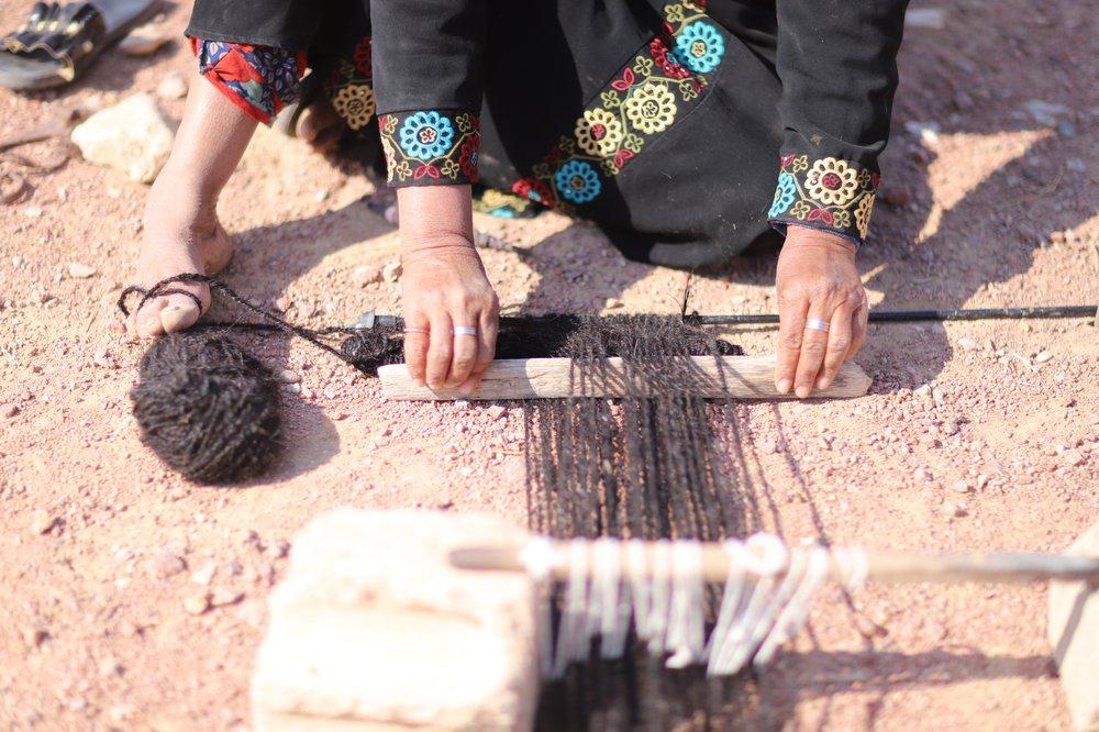 Beit Sha'er weaving