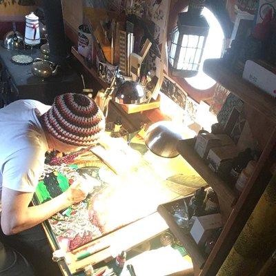 David Rayson in his studio