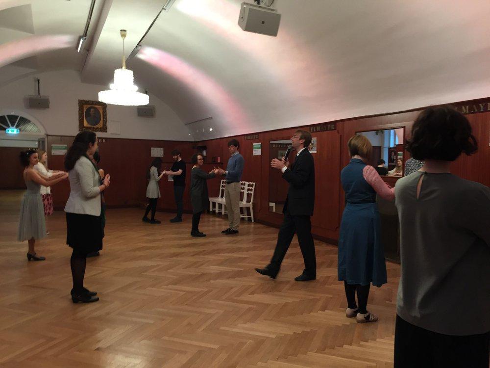 A waltz dance class in Vienna