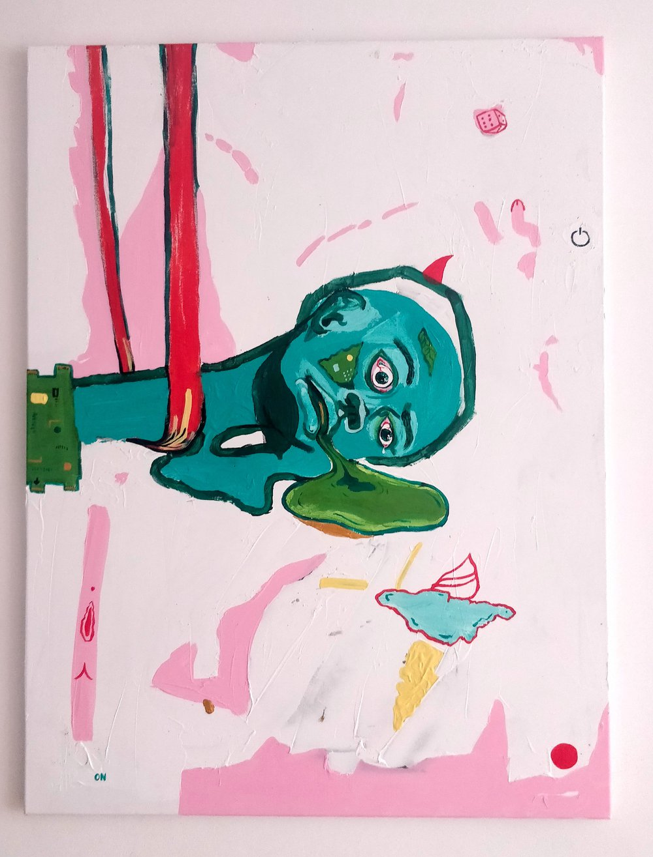 Hasta la vista, android (painting)