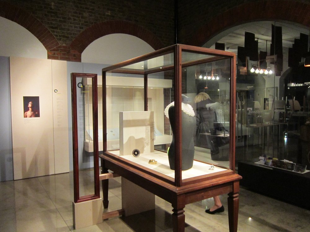 A Sense of Jewellery exhibition installation