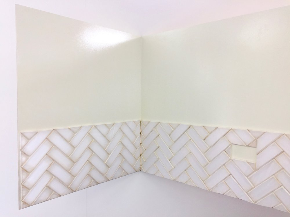 Untiled (Herringbone Backsplash)