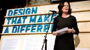 Norwegian minister Solveig Horne opens the Design That Makes a Difference exhibition in Oslo