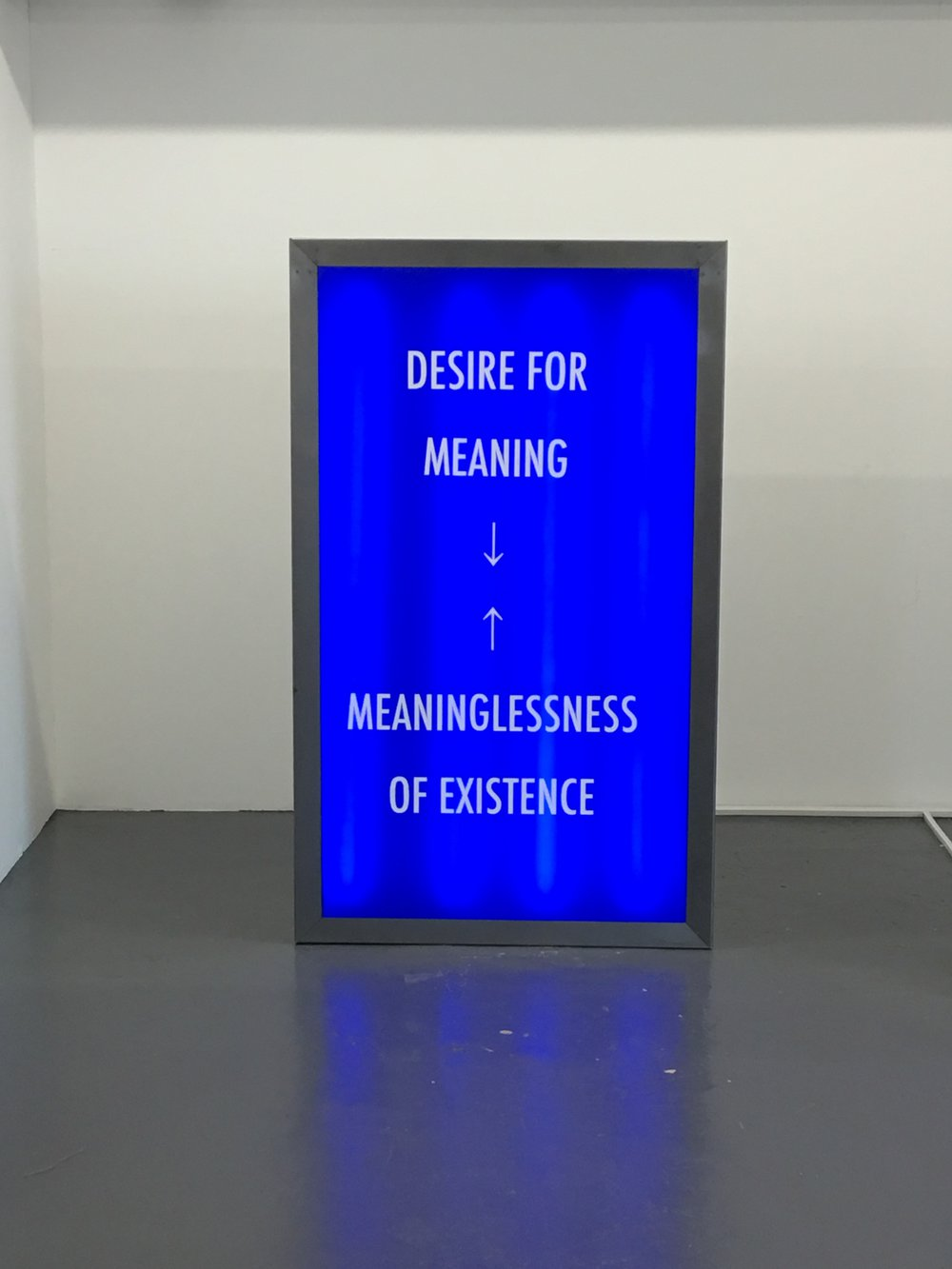 Desire For Meaning→←Meaninglessness Of Existence