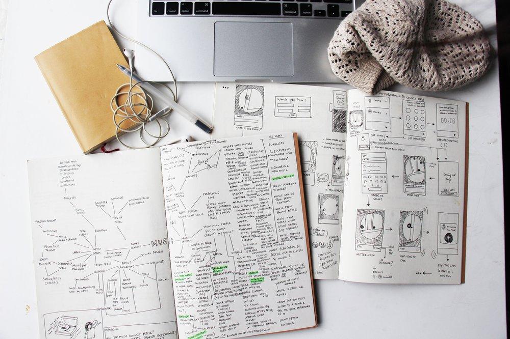 Design Process - Sketchbooks