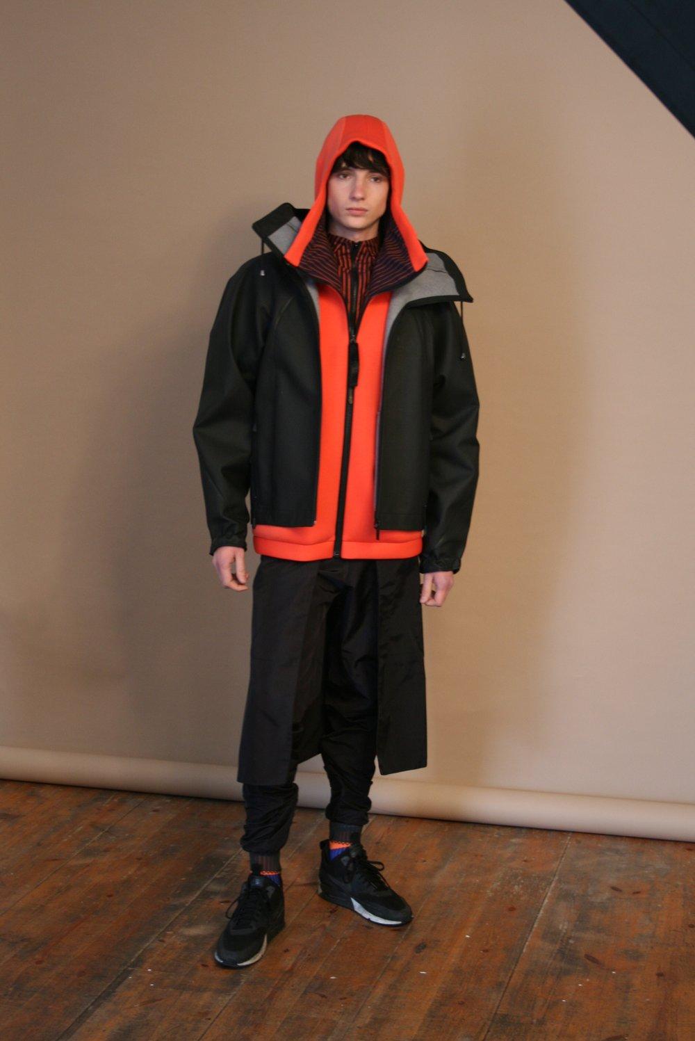 Model wearing jacket