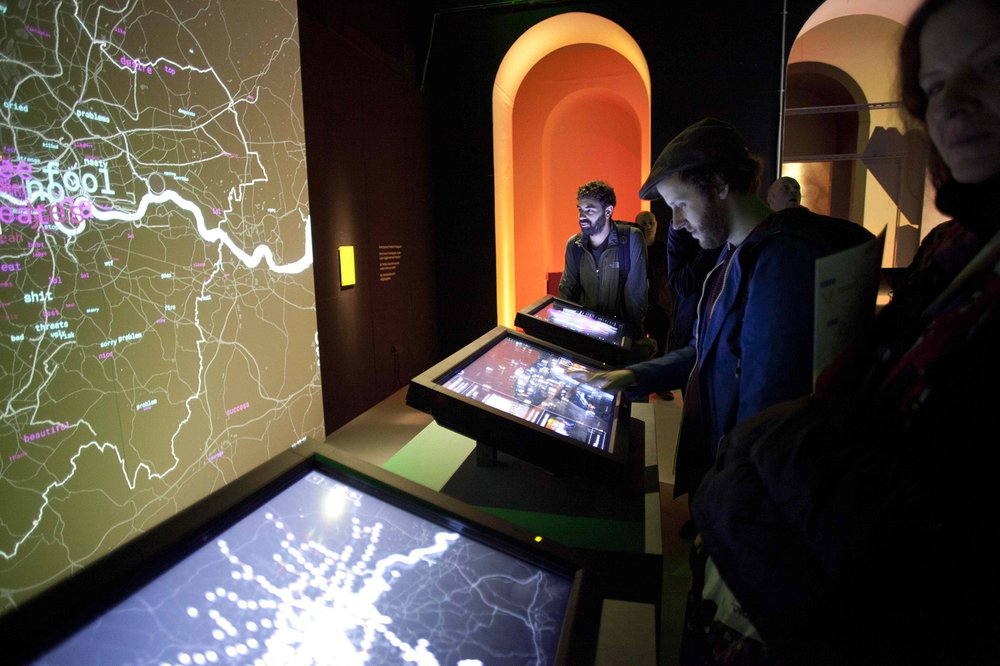 Visit to 'Big Bang Data' Exhibition at Somerset House during TRADERS Training Week IV on DATA CITIES organised by Saba Golchehr (RCA, London)
