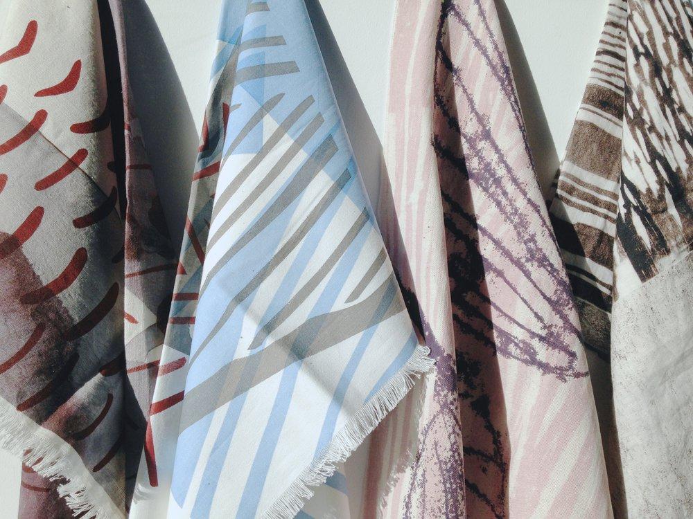 printed fabric samples