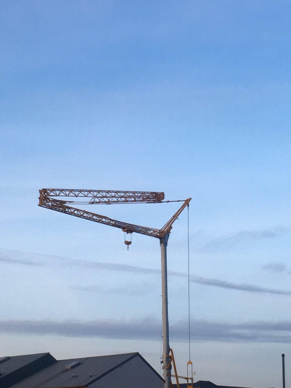 It Takes a Crane to Assemble a Crane