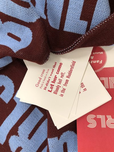 Football fan scarves and zine