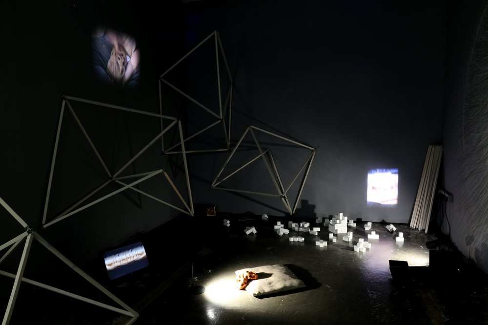 Installation view of 'The Last 'ee aw' of Buridan's Ass'
