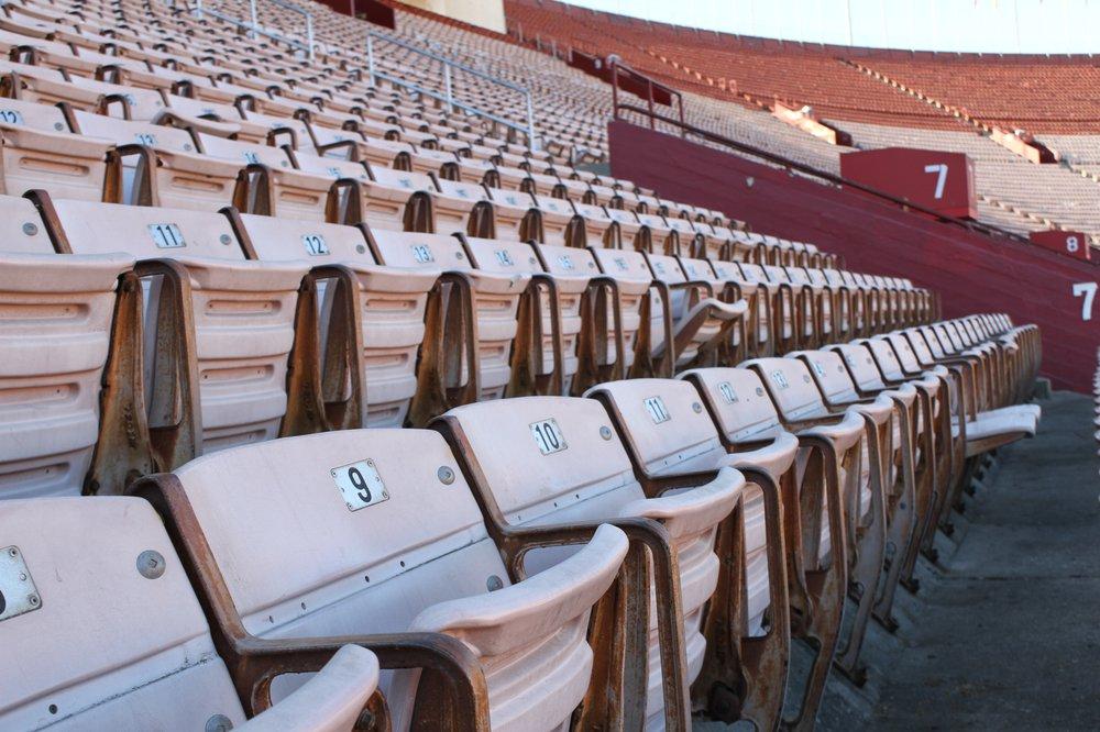 Coliseum- Sun-bleached seats
