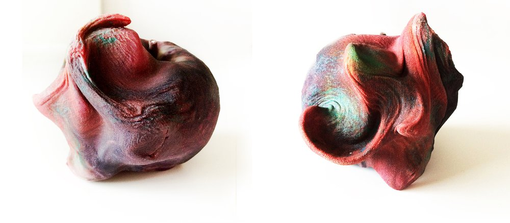 Digital perception of physical materiality through a 3D scanned and colour 3D printed apple