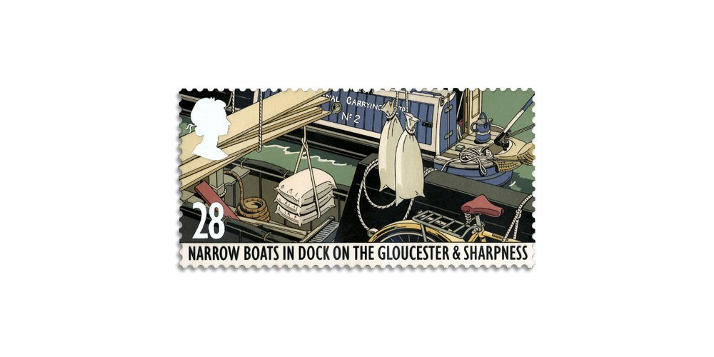The Canal Act, (commemorative stamp)