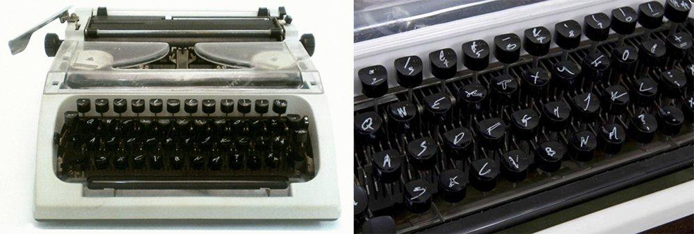 Personalised Typewriter