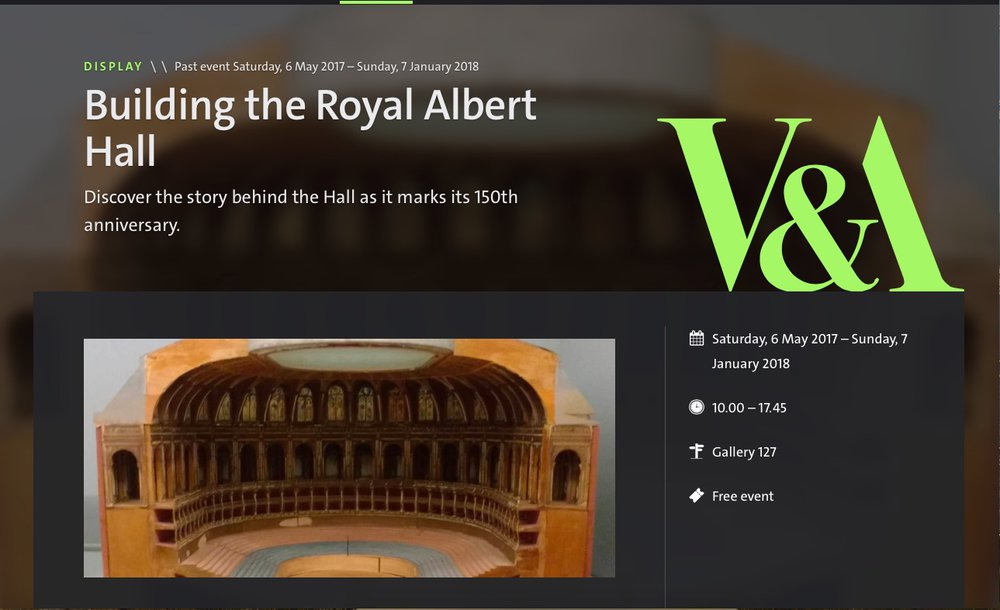 Building the Royal Albert Hall Display at the V&A