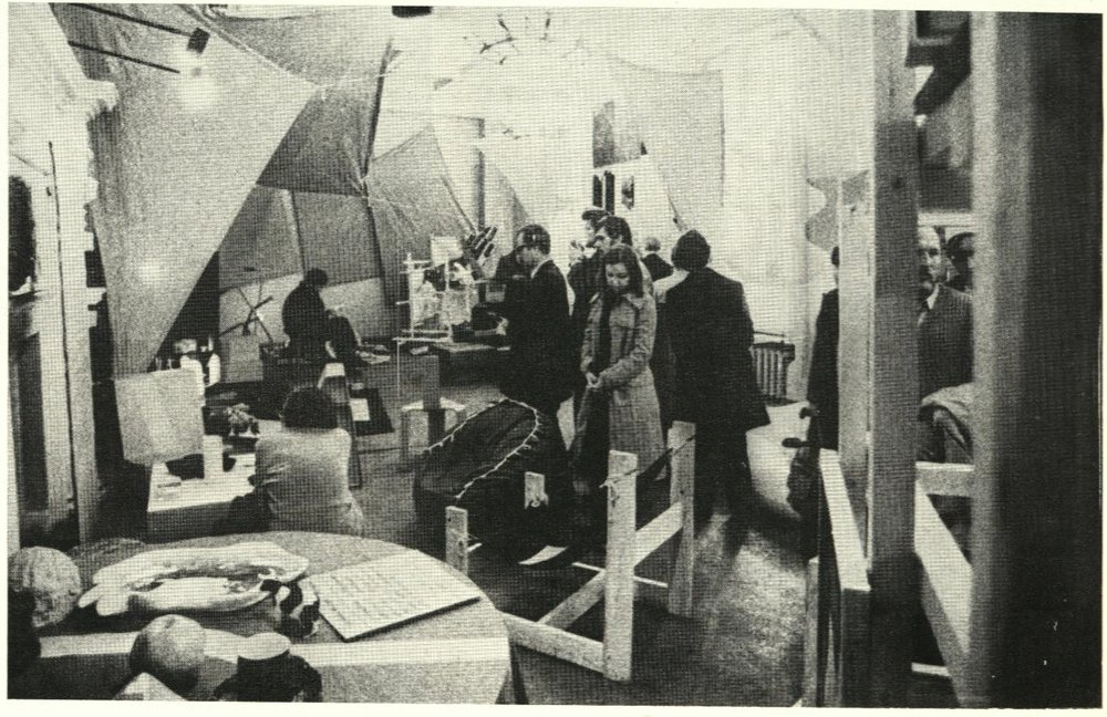 View of the 'Young Designers' Exhibition' organized by the Young Designers collective, Moscow, 1977.