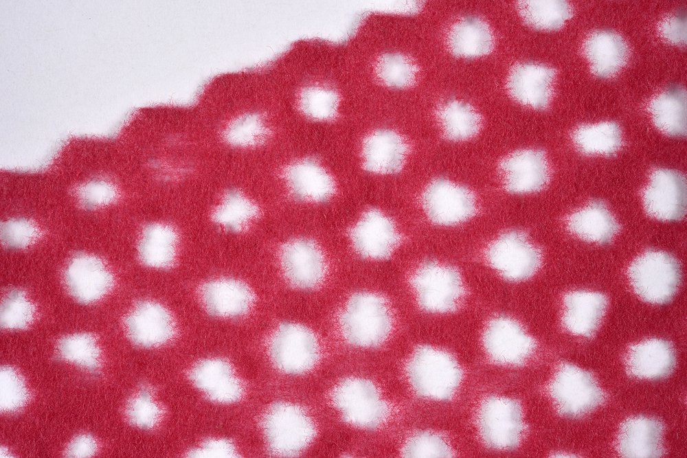 Material Driven Textile Design, Miriam Ribul, 2015-2018, Textile composite fabrication with regenerated cellulose obtained from post-consumer textiles