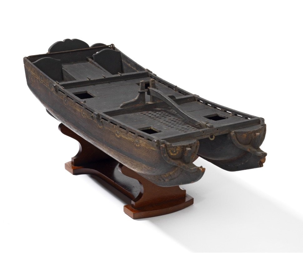 William Petty's Double Bottom Ship, 17th century model, courtesy of the Royal Society