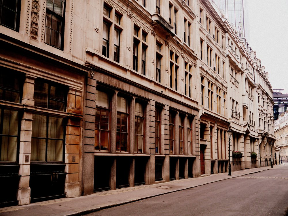 Site of building activity in the City of London for Colls & Sons, Throgmorton Avenue, EC2